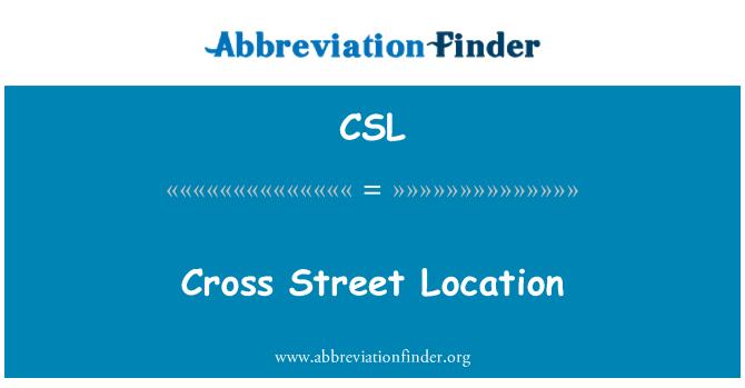 CSL: Cross Street Location