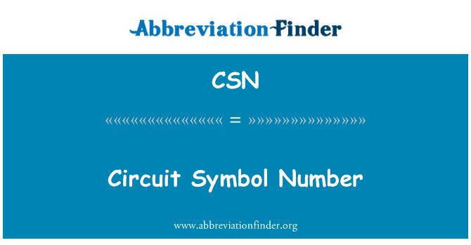 CSN: Circuit Symbol Number