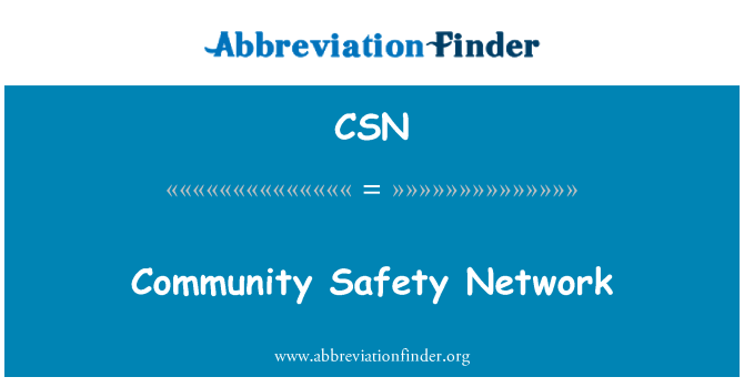 CSN: Community Safety Network