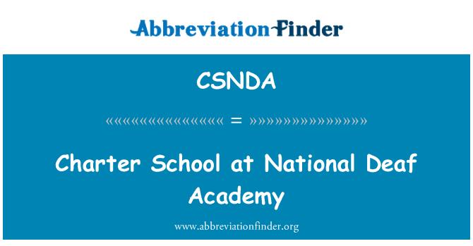 CSNDA: Charter School at National Deaf Academy
