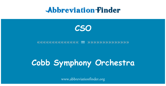 CSO: Cobb Symphony Orchestra