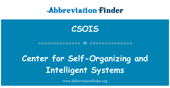 CSOIS: مرکز سیستم خود سازمان ده و هوشمند