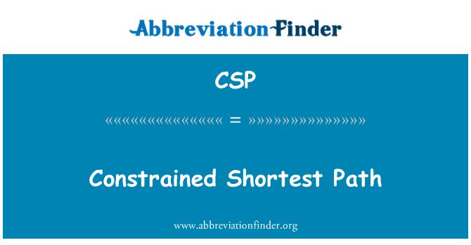 CSP: Constrained Shortest Path