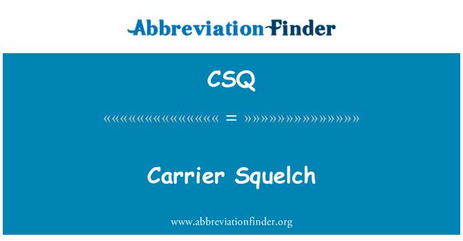 CSQ: Carrier Squelch