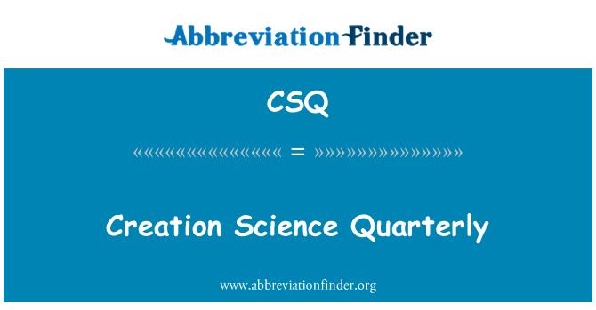 CSQ: Creation Science Quarterly