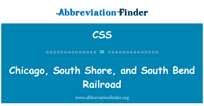 CSS: Chicago, South Shore, and South Bend Railroad