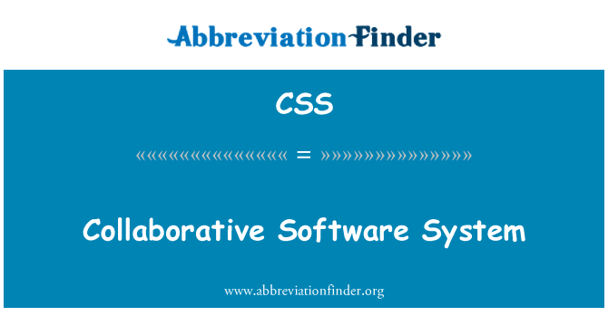 CSS: Collaborative Software System