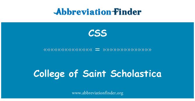 CSS: College of Saint Scholastica