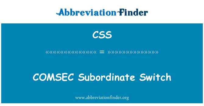 CSS: COMSEC Subordinate Switch