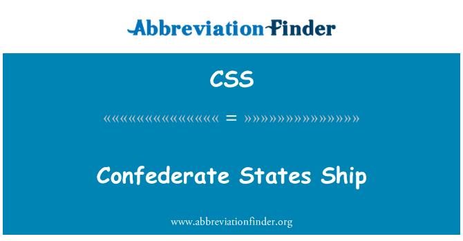 CSS: Confederate States Ship