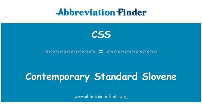 CSS: Contemporary Standard Slovene