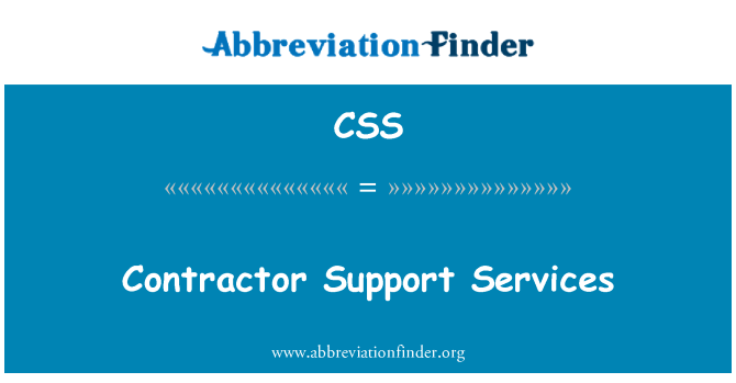 CSS: Contractor Support Services
