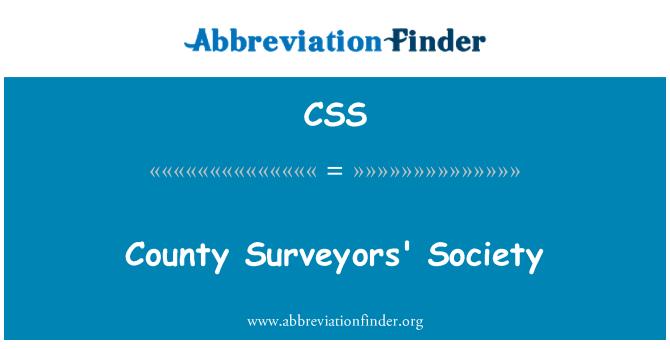 CSS: County Surveyors' Society