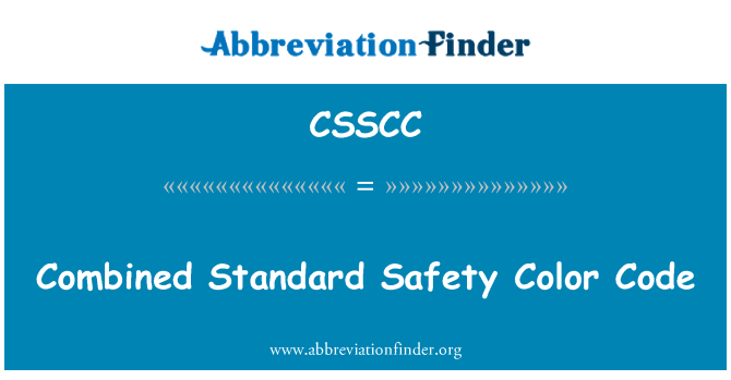 CSSCC: Combined Standard Safety Color Code