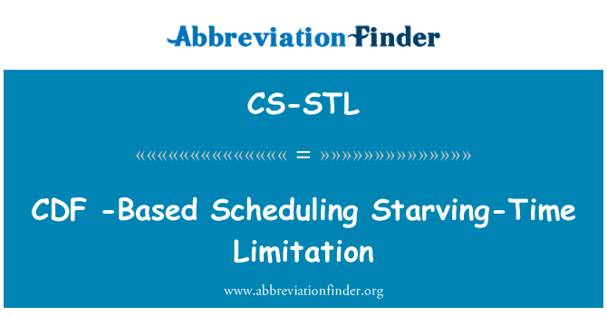 CS-STL: CDF -Based Scheduling Starving-Time Limitation
