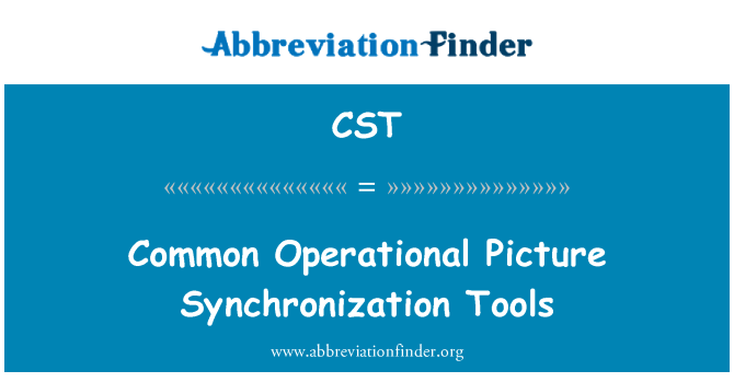 CST: Common Operational Picture   Synchronization Tools