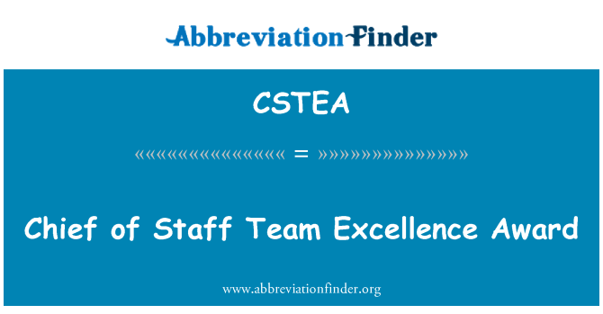 CSTEA: Chief of Staff Team Excellence Award