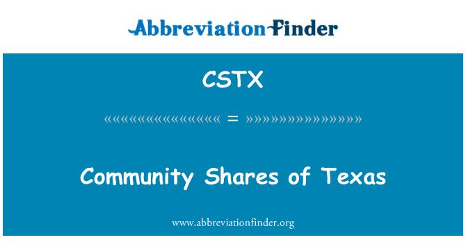 CSTX: Acciones de la comunidad de Texas