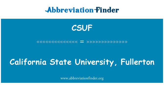 CSUF: California State University, Fullerton