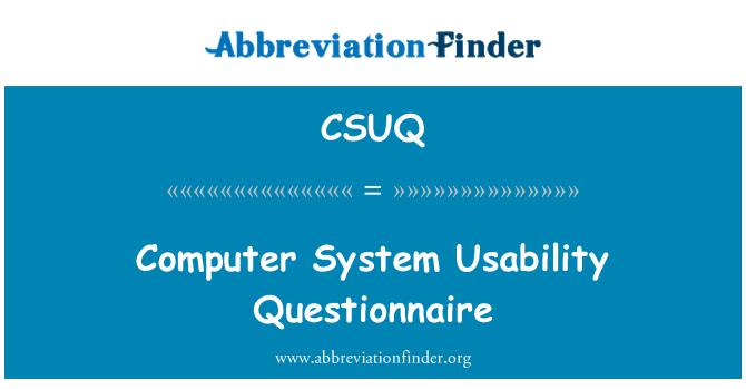 CSUQ: Cuestionario de usabilidad de sistema informático