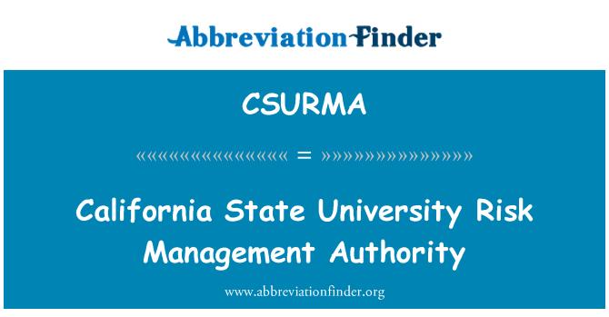 CSURMA: California State University Risk Management Authority
