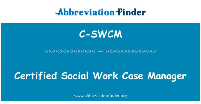 C-SWCM: Certifikovaný správce případů sociální práce