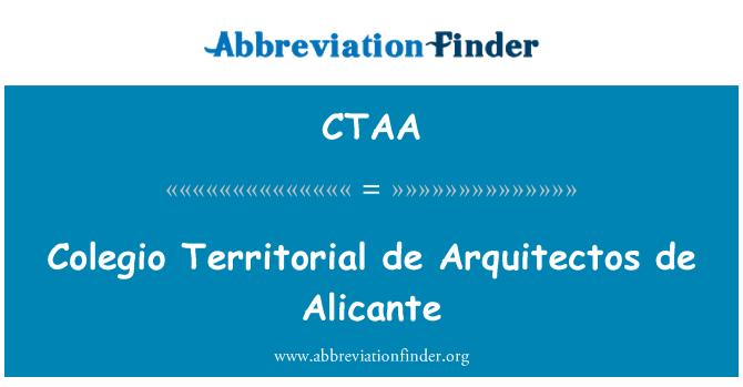 CTAA: Colegio Territorial de Arquitectos de Alicante