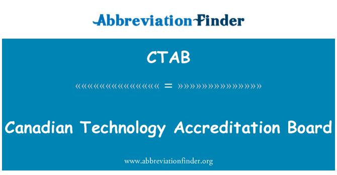 CTAB: Junta de acreditación tecnología canadiense