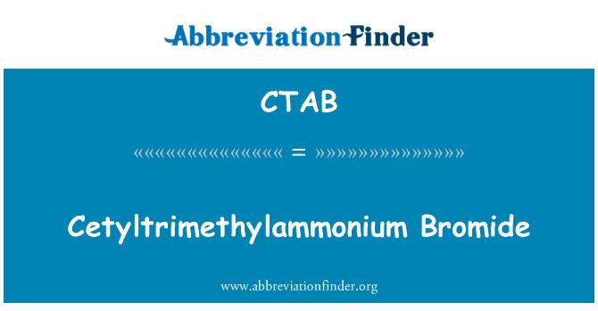 CTAB: Bromuro de cetiltrimetilamonio