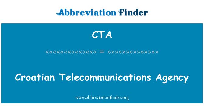 CTA: Croatian Telecommunications Agency
