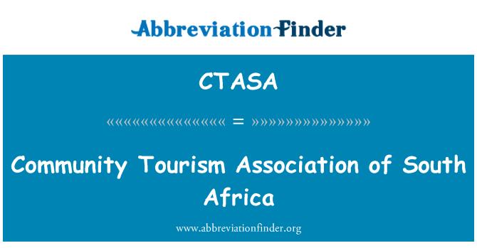 CTASA: Asociación de turismo comunitario de Sudáfrica