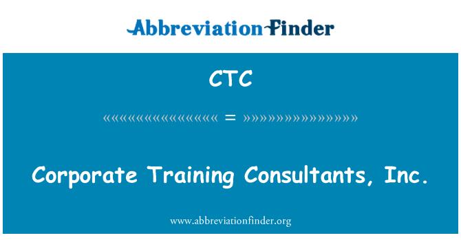 CTC: Corporate Training Consultants, Inc.