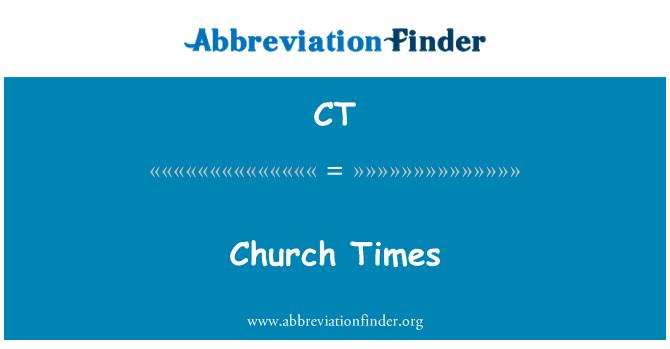 CT: Church Times