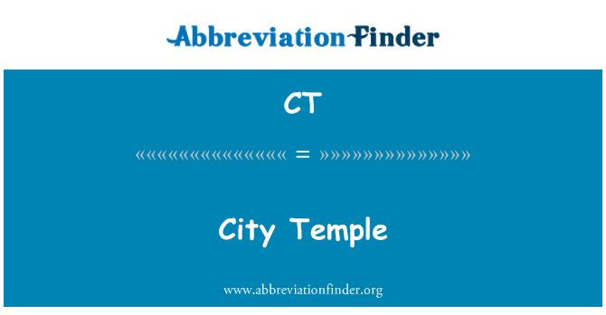 CT: City Temple