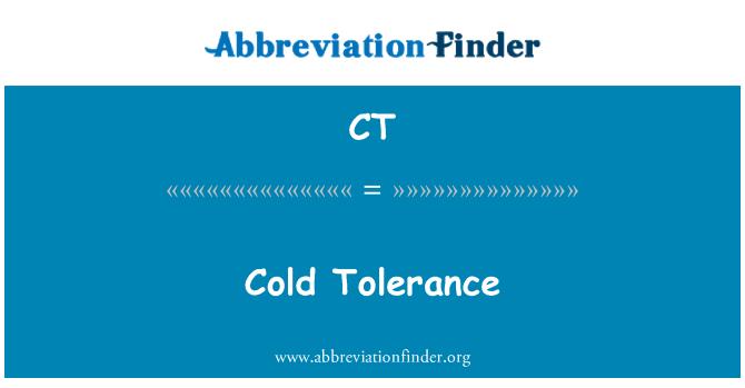 CT: Cold Tolerance