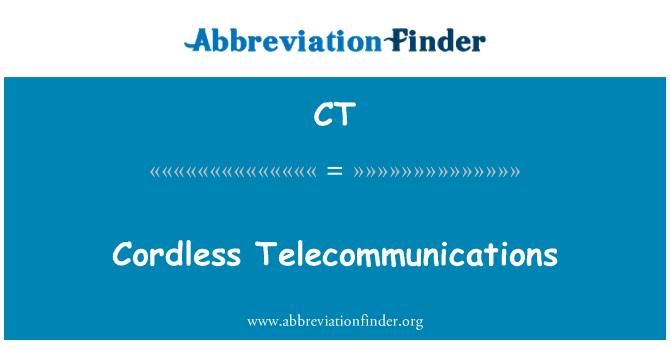 CT: Cordless Telecommunications