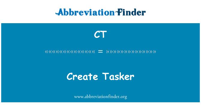 CT: Create Tasker