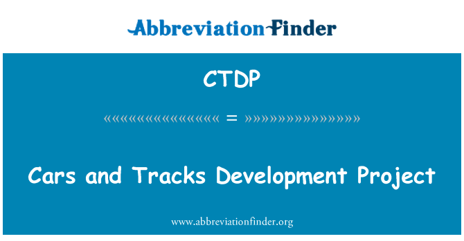 CTDP: Cars and Tracks Development Project