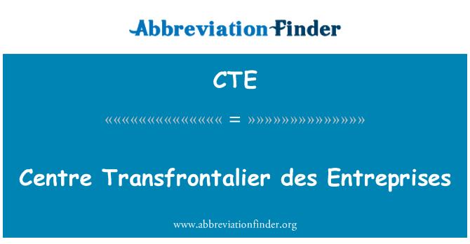 CTE: Centre Transfrontalier des Entreprises