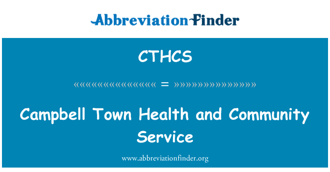 CTHCS: Campbell Town Health and Community Service