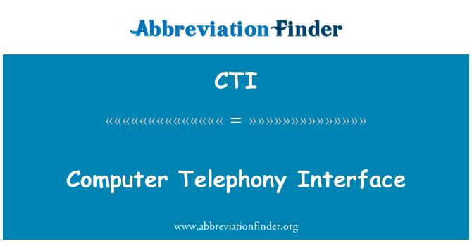 CTI: Computer Telephony Interface