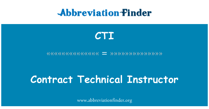 CTI: Contract Technical Instructor