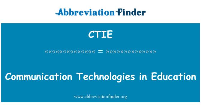 CTIE: Tecnologías de la comunicación en la educación