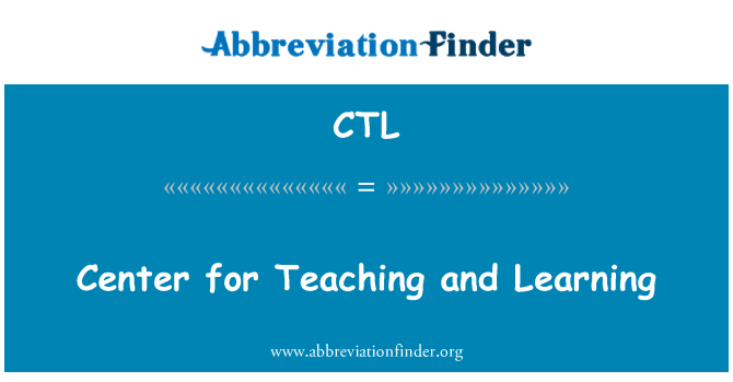 CTL: Center for Teaching and Learning