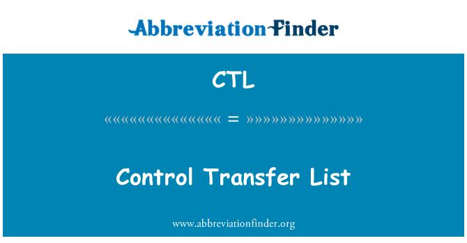 CTL: Control Transfer List