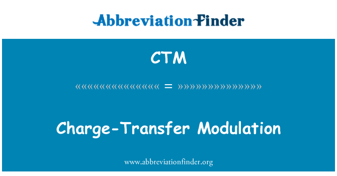 CTM: Charge-Transfer Modulation