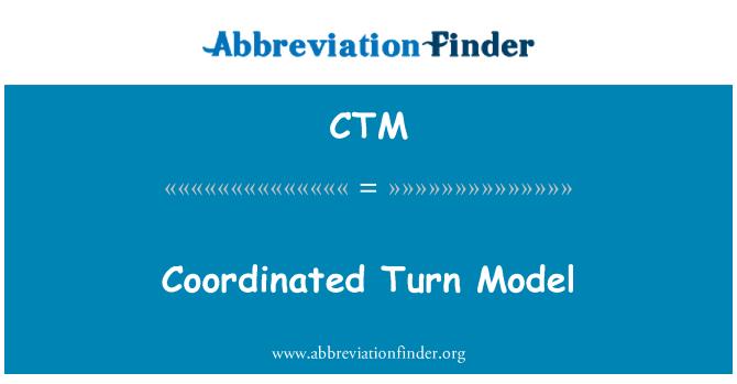 CTM: Coordinated Turn Model