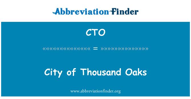 CTO: City of Thousand Oaks