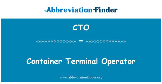 CTO: Container Terminal Operator