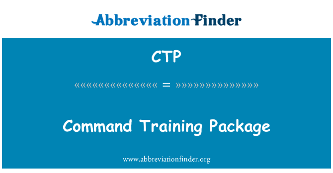CTP: Command Training Package